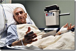 hospitalized man