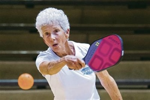 More and more older adults picking up pickleball